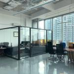 ARC 380 - Full view of glass partition, epoxy flooring, air conditioning and lighting