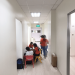 Jurong West Learning Centre Renovation - Walkway leading to the three classrooms and side unit