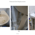 Pedestal Sink Replacement